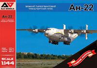 "A&A Models 4401 Antonov An-22 ""Antonov Airlines"" Plastic model kit 1/144"