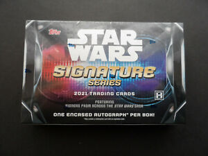 TOPPS STAR WARS SIGNATURE SERIES 2021 SEALED HOBBY BOX