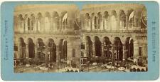 Photo Stéréo Albuminé Turquie Constantinople Sainte Sophie Vers 1870