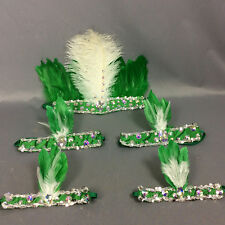 free shipping feathers head&arm&leg piece for samba dress carnival dress 5pc/set