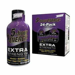 5-hour ENERGY Shot, Extra Strength Grape, 1.93 oz, 24 Count