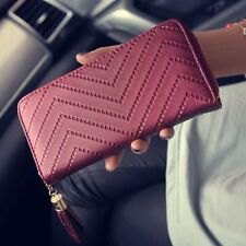 Women Leather Clutch Long Wallet PU Card Holder Lady Purse Envelope Bag Handbag
