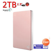 "2TB 2.5"" SEAGATE Backup Plus SLIM USB3.0 Portable External Hard Drive Pink"