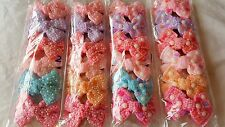 Joblot 24 pcs Mixed color Bow Design Sparkly hairclips hairgrips wholesale Lot 5