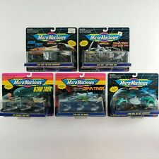 Micro Machines COMPLETE STAR TREK COLLECTIONS + Stands Galoob Vtg 1993 New Mint