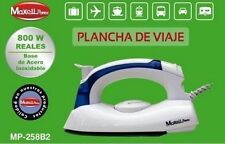 PLANCHA DE VIAJE 800W PLEGABLE ANTI ADHERENTE SECO O VAPOR. PEQUEÑA, PORTABLE