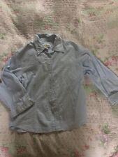 Deliciosa ORVIS Blanco/Azul Rayas Estopilla Camisa/Blusa-Talla 8/como 10 en muy buena condición