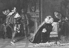 Death of MARY STUART I QUEEN OF SCOTS, Scotland ~ Old 1878 Art Print Engraving