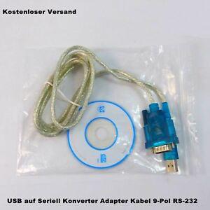 USB zu Seriell Konverter Adapter Kabel RS-232 9-Pol 1.8m NEU