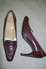Charles Jourdan-burgundy leather shoes.UK 5,5/5(7B)Heel 8 cm.Used