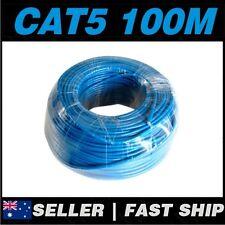 1x 100m Cat 5 5E Cat5 Cat5E Blue  Ethernet Network LAN Patch Cable Lead