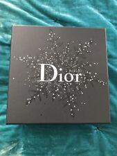 Dior Black Silver Cd Snowflake Stars Empty Gift Box Storage Box New