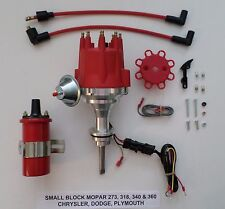 small cap SMALL BLOCK MOPAR 318, 340 & 360 RED HEI Distributor + RED 45k Coil
