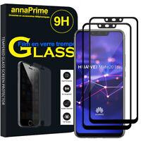 """2 Vitre Film Verre Trempe Protecteur d'écran Huawei Mate 20 Lite 6.3""""/ Maimang 7"""
