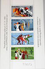 POLAND POLONIA 1980 DS 2674-77 2380-83 Olympics 1980 Moscow Lake Placid MNH