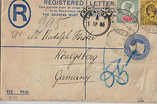 1895 Registered Cover Great Britain to Germany