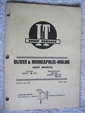 I&T OLIVER,MINNEAPOLIS MOLINE G955,TRACTOR SHOP MANUAL