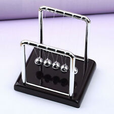 Small Newton's Pendulum educationl Cradle Steel Balance Ball Physics Black base