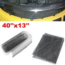 Black 40''x13'' Aluminum Mesh Grill Cover Car Bumper Fender Hood Vent Grille Net