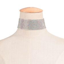 Diamante Women Full Crystal Rhinestone Chunky Choker Necklace Bride Wedding Prom
