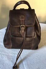 Leather unisex backpack handmade in Italy medium size very good condition