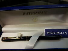 WATERMAN EXCLUSIVE  BLACK & GOLD TRIM  EXCLUSIVE ROLLERBALL PEN  NEW IN BOX