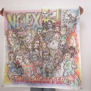 NOFX Banner Longest Ep Tapestry Cover Logo Flag Fabric Art Poster 4x4 ft