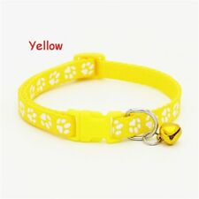 Lovely Kitten Puppy Cat Bell With Safety Fascinating Collar Reflective Pet Dog Yellow