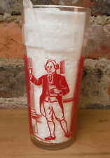 Vintage Peanut Butter Jar Drinking Glass Rare Patrick Henry Give Me Liberty Red