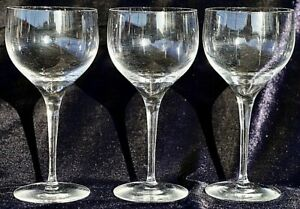 3 Quality Blown Clear Glass White Wine Glasses 200ml Great Ring