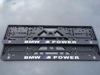 BMW number plate surrounds M Power motorsport (pair) M3 M5 M6 E60 Z4 X5 E39 E46