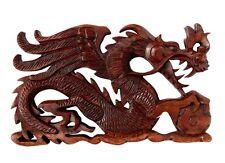 NEU schönes Relief DRACHE Holz Dragon Handarbeit Rel14