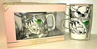 Echte Disney BAMBI Keramik Teekanne + 2 Tassen SET Kaffee Kanne REH WILD Primark