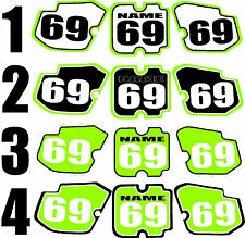 1988-1989 Kawasaki KX 125 250 Number Plates Side Panels Graphics Decal