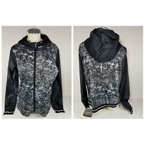 NWT Women's Under Armour 1264838 Printed Layered Up Storm Jacket Black Print XL