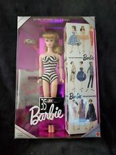 35th Anniversary Barbie 1959 Doll & Package Blonde 1993 NIB