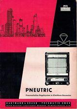 Hartmann und Braun Frankfurt Prospekt Pneutric Pneumatisches Regelsystem 1960