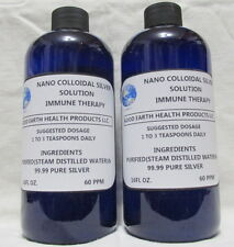 NANO COLLOIDAL SILVER IMMUNE THERAPY 60PPM ( 2 16OZ BOTTLES & 1 MISTER ADAPTER))