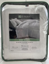 The Seasons Collection® Cotton Extra Warmth White Goose Down Twin Comforter