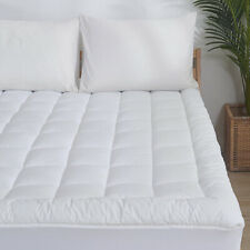 Waterproof Mattress Pad Cover Quilted Fitted Topper Protector Cooling Cotton Top