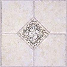 Mosaic Vinyl Floor Tile 36 Pcs Self Adhesive Flooring - Actual 12'' x 12''