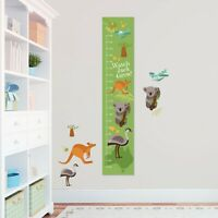 Customised  Outback Australian Animals Height Growth Chart 8 Vinyl Wall Stickers