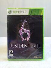 Resident Evil 6 MICROSOFT Xbox 360 video game 2012 Capcom Brand New Sealed Live