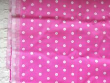 """SMALL WHITE POLKA DOTS ON PINK COTTON QUILT FABRIC - 58"""" x 45"""""""