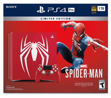 Sony PlayStation 4 Slim Limited Edition Marvel's Spider Man 1TB Red Console Bundle