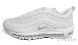 New NIKE Air Max 97 Men's Sneakers White / Wolf Grey Size 8, $160 Minor Stain