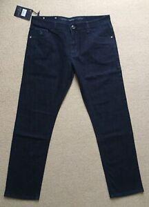 "Stefano Ricci Blue Luxury Italian Jeans with a Touch of Cast logo W38"" L32"" BNWT"