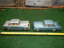 2 VINTAGE 1963 PLYMOUTH VALIANT& Mercedes BY BANDAI OF JAPAN TIN FRICTION