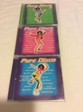 Pure Disco Lot Of 3 CDs Vol. 1, 2, 3 ABBA Chic KC Kool & Gang Donna Summer Ross