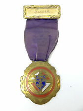 Knights of Columbus Purple Brass Award Medal 1937 Connecticut State Banquet